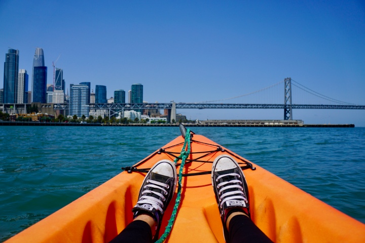 Kayaking in the San Francisco Bay